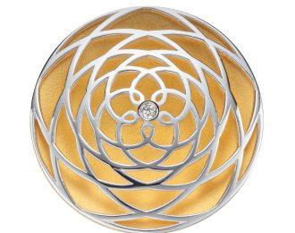 Venus Frequenz auf Anhänger 925 silber/vergoldet